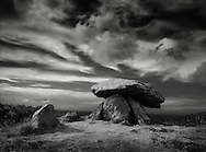 Chun Quoit, a Neolithic chamber tomb in Penwith, West Cornwall.