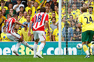 Jonathan Walters of Stoke takes the penalty but its saved by John Ruddy of Norwich during the Barclays Premier League match at Carrow Road Stadium, Norwich, Norfolk...Picture by Paul Chesterton/Focus Images Ltd.  07904 640267.21/8/11