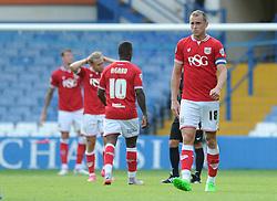 Aaron Wilbraham of Bristol City cuts a dejected figure - Mandatory byline: Dougie Allward/JMP - 07966386802 - 08/08/2015 - FOOTBALL - Hillsborough Stadium -Sheffield,England - Sheffield Wednesday v Bristol City - Sky Bet Championship