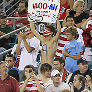 USA fans hold up signs during an international friendly soccer match between Scotland and the United States at EverBank Field on Saturday, May 26, 2012 in Jacksonville, Florida.  The United States won the match 5-1 in front of 44,000 fans. (AP Photo/Alex Menendez)
