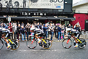 Irish drinkers get into the spirit of the Giro as they cheer on Pro Team Colombia in the TTT. The Giro is a three week long stage race and is one of the toughest endurance sporting challenges. The first race was in 1909, and there have been nine starts outside of Italy, which take place to help export the Giro brand.
