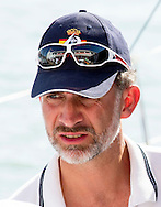 6-8-2015 PALMA DE MALLORCA  Spain's  King Felipe VI sails  on board the Spanish Navy sailing ship &sbquo;Aifos' during the 34th Copa del Rey Mapfre Sailing Cup, Majorca, Spain COPYRIGHT ROBIN UTRECHT<br /> 2015/06/08 PALMA DE MALLORCA Spaanse koning Felipe VI zeilen aan boord van de Spaanse marine zeilschip, Aifos 'tijdens de 34e Copa del Rey Mapfre Sailing Cup, Mallorca, Spanje COPYRIGHT ROBIN UTRECHT