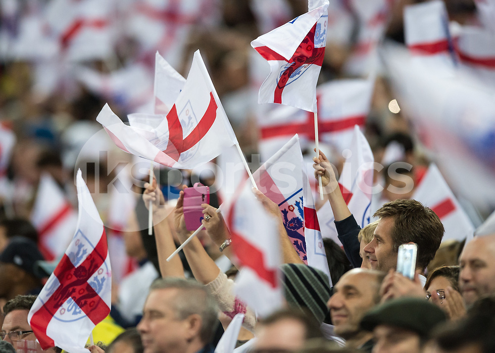 England fans during the International Friendly match between England and Brazil at Wembley Stadium, London, England on 14 November 2017. Photo by Vince Mignott.
