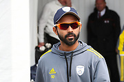 Ajinkyha Rahane of Hampshire ahead of the opening day of the Specsavers County Champ Div 1 match between Yorkshire County Cricket Club and Hampshire County Cricket Club at Headingley Stadium, Headingley, United Kingdom on 27 May 2019.