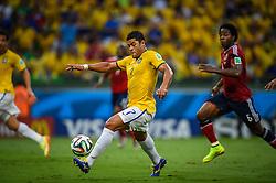 Hulk na partida entre Brasil x Colombia, válida pelas quartas de final da Copa do Mundo 2014, no Estádio Castelão, em Fortaleza-CE. FOTO: Jefferson Bernardes/ Agência Preview