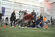 Mississippi wide receiver Ja-Mes Logan runs through a drill during Pro Day, in Oxford, Miss. on Monday, March 3, 2014. (AP Photo/Oxford Eagle, Bruce Newman)