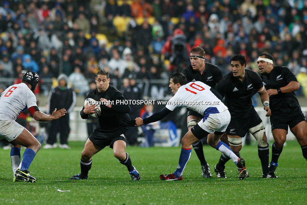 Luke McAlister in action, <br />