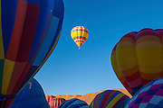 Hot air balloons at annual Red Rock Balloon Rally at Red Rock State Park, Gallup, New Mexico.