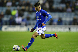 Leicester Midfielder Ben Marshall (ENG) strikes a free kick during the first half of the match - Photo mandatory by-line: Rogan Thomson/JMP - Tel: Mobile: 07966 386802 18/01/2013 - SPORT - FOOTBALL - King Power Stadium - Leicester. Leicester City v Middlesbrough - npower Championship.