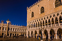 The Doge's Palace and Piazza San Marco, Venice, Italy.