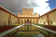 SPAIN, ANDALUSIA, GRANADA Alhambra; Court of the Myrtles