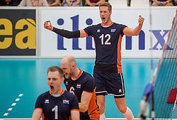 24-09-2016 NED: EK Kwalificatie Nederland - Wit Rusland, Koog aan de Zaan<br /> Nederland verliest de eerste twee sets / Kay van Dijk #12