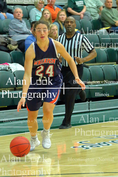 06 December 2017:  Maggie Dansdill during an NCAA women's basketball game between the Wheaton Thunder and the Illinois Wesleyan Titans in Shirk Center, Bloomington IL