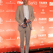 NLD/Amsterdam/20150202 - Edison Awards 2015, Thomas Azier met zijn Award