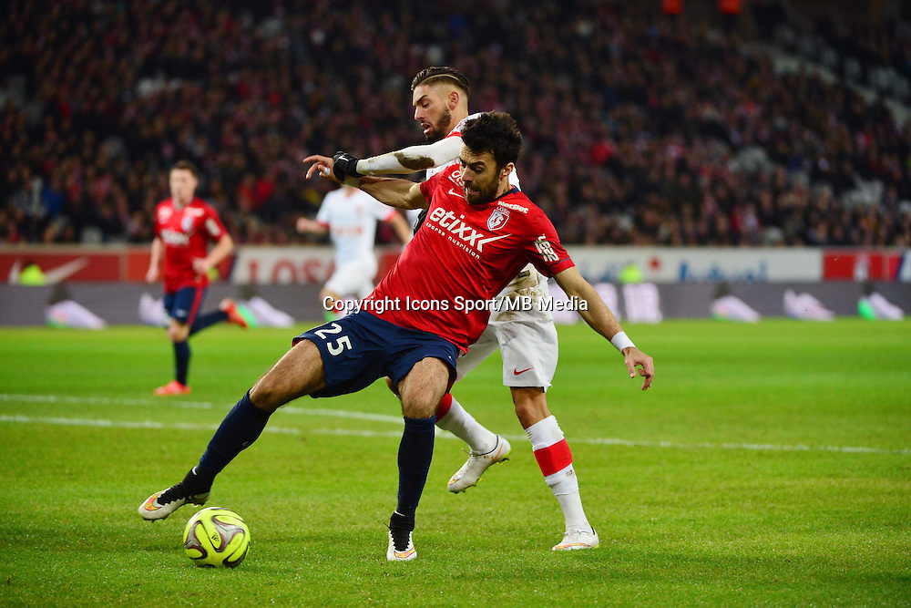 Marko BASA / Yannick FERREIRA CARRASCO  - 24.01.2015 - Lille / Monaco - 22eme journee de Ligue1<br />