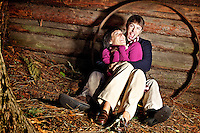 Amanda & Charlie Miller portrait session held Sunday, Oct. 16, 2011 at their family cabin in Twin Lakes, Idaho.