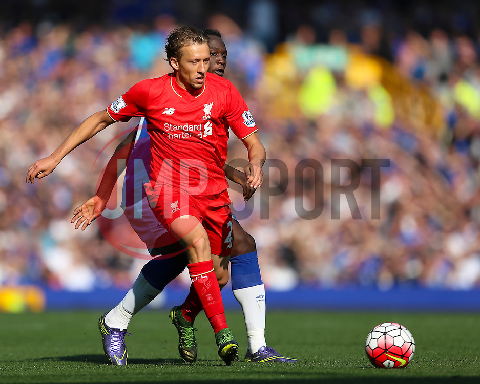 Lucas Leiva of Liverpool   - Mandatory byline: Matt McNulty/JMP - 07966 386802 - 04/10/2015 - FOOTBALL - Goodison Park - Liverpool, England - Everton  v Liverpool - Barclays Premier League