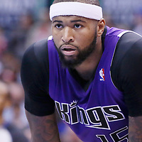 23 November 2013: Sacramento Kings center DeMarcus Cousins (15) rests during the Los Angeles Clippers 103-102 victory over the Sacramento Kings at the Staples Center, Los Angeles, California, USA.