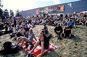 Large crowd sitting on the grass, Quart festival, Kristiansands Norway 2000