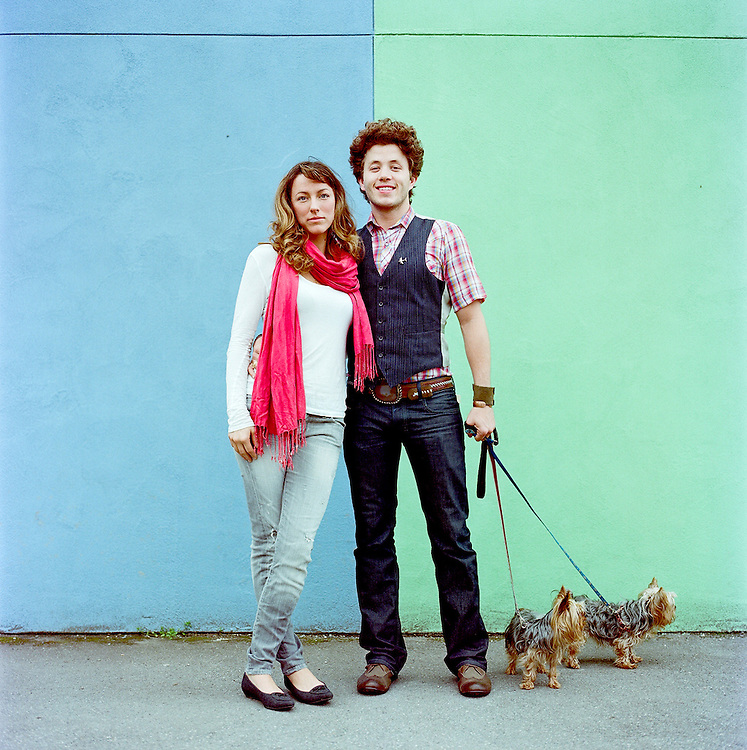 Couple in downtown Anchorage, Alaska. 2010