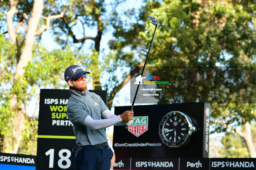 PERTH, AUSTRALIA - FEBRUARY 15: Scott Vincent (ZIM) on the 17th tee during the 2nd round of the ISPS Handa World Super 6, Lake Karrinyup Country Club, Perth, Western Australia, on February 15, 2019. <br /> .<br /> .<br /> .<br /> (Photo by: Naratip Golf Srisupab/SEALs Sports Images)<br /> .<br /> Any image use must include a mandatory credit line adjacent to the content which should read: Naratip Golf Srisupab/SEALs Sports Images