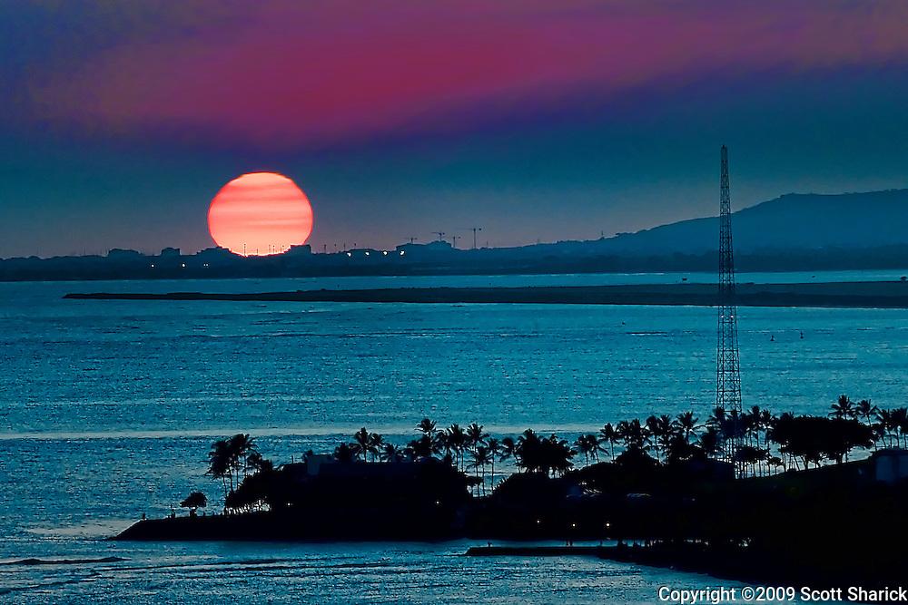A serene sunset in Hawaii.