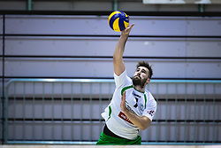 Drvarič Urban of Panvita Pomgrad on serve during volleyball match between Panvita Pomgrad and Šoštanj Topolšica of 1. DOL Slovenian National Championship 2019/20, on December 14, 2019 in Osnovna šola I, Murska Sobota, Slovenia. Photo by Blaž Weindorfer / Sportida