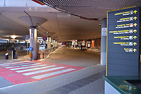 2020-03-13 | BOLOGNA, ITALIA: A almost empty airport due to the corona virus outbreak. ( Photo by: Wilfried Butin | Swe Press Photo )<br /> <br /> Keywords: BOLOGNA, CITY, CORONA VIRUS, AIRPORT, BOLOGNA, ITALY, wbbologna140320