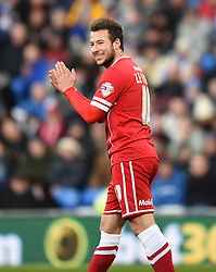 Cardiff City's Adam Le Fondre after a failed attempt at a second goal against Watford - Photo mandatory by-line: Paul Knight/JMP - Mobile: 07966 386802 - 28/12/2014 - SPORT - Football - Cardiff - Cardiff City Stadium - Cardiff City v Watford - Sky Bet Championship