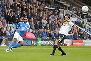 Peterborough United defender Hayden White (20) crosses during the EFL Sky Bet League 1 match between Peterborough United and Port Vale at London Road, Peterborough, England on 10 September 2016. Photo by Dennis Goodwin.