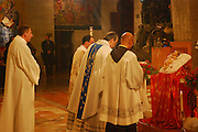 Israel, Nazareth, Interior of the Basilica of the Annunciation, Christmas midnight Mass service