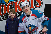 KELOWNA, CANADA - FEBRUARY 12:  Home Hardware Stick Boy with Braydyn Chizen #22 of the Kelowna Rockets at the Kelowna Rockets game on February 12, 2018 at Prospera Place in Kelowna, British Columbia, Canada.  (Photo By Cindy Rogers/Nyasa Photography,  *** Local Caption ***