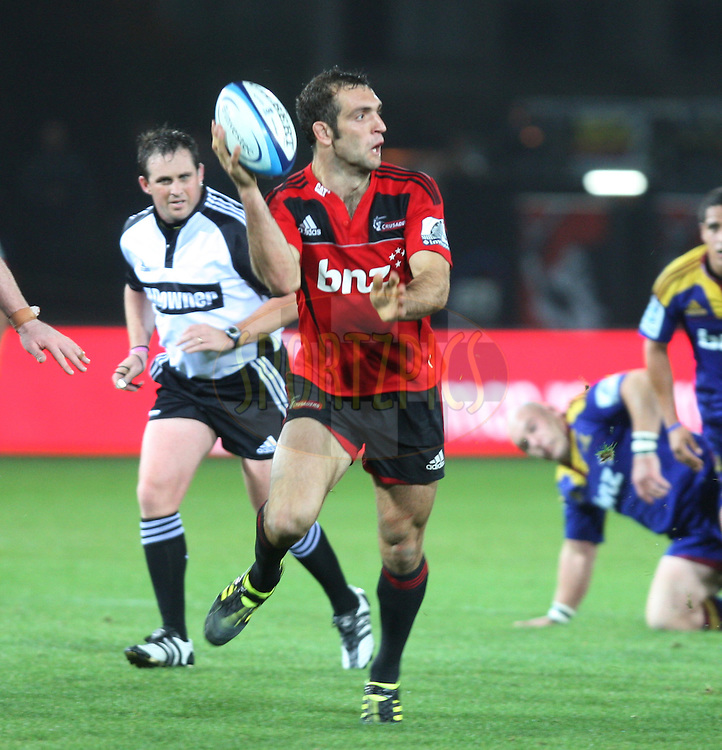 Adam Whitelock  in action.Crusaders v Highlanders, Investec Super Rugby, Trafalgar Park, Nelson. 23 April 2011. Photo: Evan Barnes/photosport.co.nz