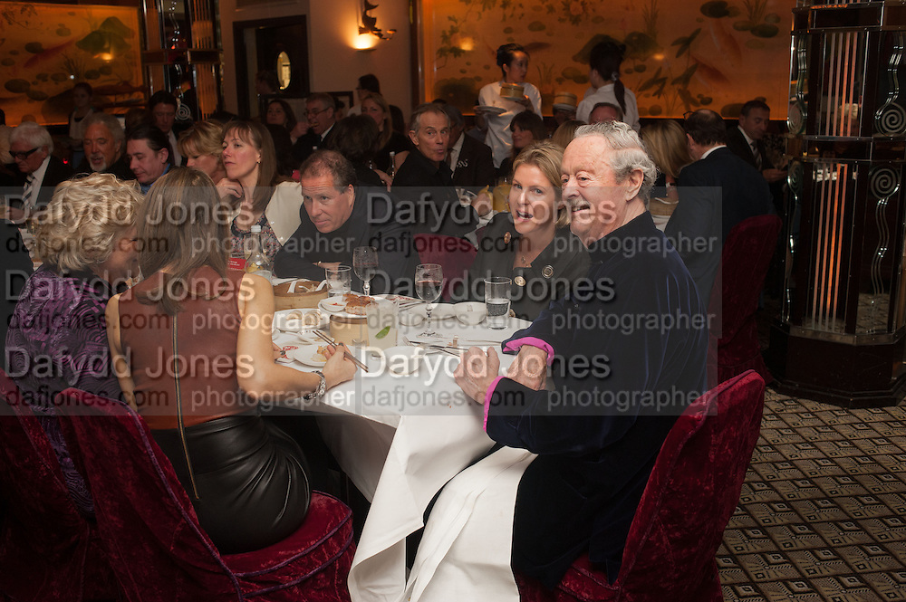 LADY LINLEY; THE DUKE OF MARLBOROUGH, Chinese New Year dinner given by Sir David Tang. China Tang. Park Lane. London. 4 February 2013.