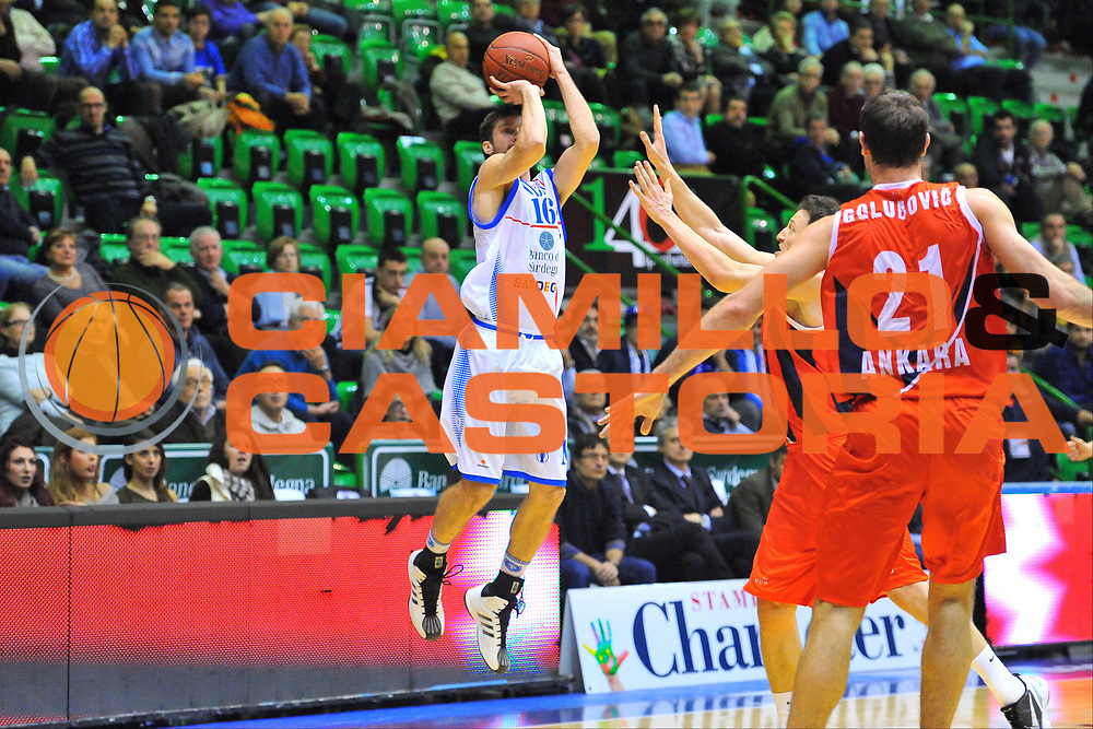DESCRIZIONE : Eurocup 2013/14 Gr. J Dinamo Banco di Sardegna Sassari -  Aykon TED Ankara Kolejliler<br /> GIOCATORE : Drake Diener<br /> CATEGORIA : Tiro Tre Punti<br /> SQUADRA : Dinamo Banco di Sardegna Sassari<br /> EVENTO : Eurocup 2013/2014<br /> GARA : Dinamo Banco di Sardegna Sassari -  Aykon TED Ankara Kolejliler<br /> DATA : 23/10/2013<br /> SPORT : Pallacanestro <br /> AUTORE : Agenzia Ciamillo-Castoria / Luigi Canu<br /> Galleria : Eurocup 2013/2014<br /> Fotonotizia : Eurocup 2013/14 Gr. J Dinamo Banco di Sardegna Sassari -  Aykon TED Ankara Kolejliler<br /> Predefinita :
