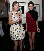 ALEXA CHUNG; DAISY LOWE, Dinner hosted by editor of British Vogue, Alexandra Shulman in association with Net-A-Porter.com in honour of 25 years of London Fashion Week and Nick Knight. Caprice. London.  September 21, 2009