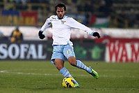 """Alvaro Gonzalez Lazio.Bologna 10/12/2012 Stadio """"Dall'Ara"""".Football Calcio Serie A 2012/13.Bologna v Lazio.Foto Insidefoto Paolo Nucci."""