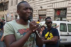 August 26, 2017 - Rome, Italy, Italy - Migrant's manifestation and Home Movement against evictions and for the right to housing. (Credit Image: © Leo Claudio De Petris/Pacific Press via ZUMA Wire)