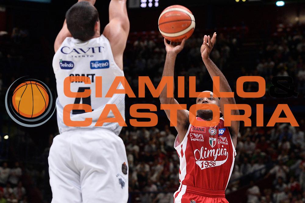 Hickman Richard<br /> EA7 Emporio Armani Olimpia Milano - Dolomiti Energia Aquila Basket Trento<br /> Playoff Gara 1<br /> Lega Basket 2016/2017<br /> Milano 25/05/2017<br /> Foto Ciamillo-Castoria