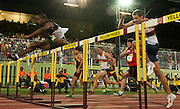 STELLENBOSCH, SOUTH AFRICA, Tuesday 20 March 2012, Antonio Alkana of Bellville Athletic Club wins the mens 110m Hurdles during the Yellow Pages Series athletics meeting at the University of Stellenbosch Coetzenburg stadium..Photo by Roger Sedres/Image SA