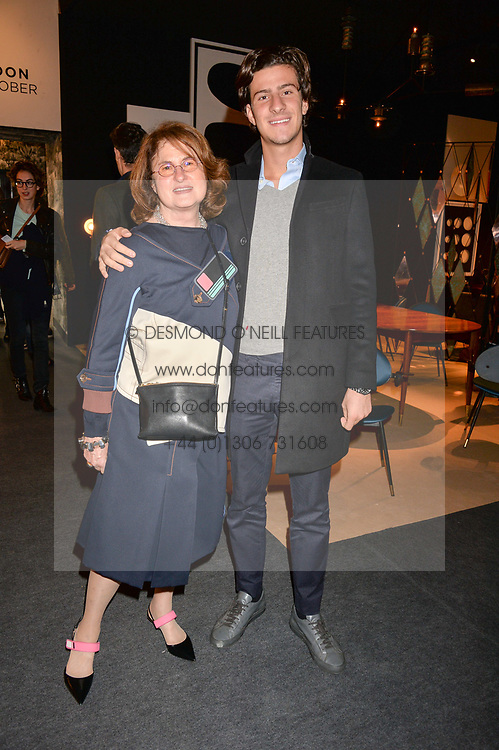 Jill Ritblat and Emile Fattal at the 2017 PAD Collector's Preview, Berkeley Square, London, England. 02 October 2017.