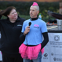 Adam Morris, organizer of the Hope Continues 5K, welcomed participants Saturday morning at Fairpark
