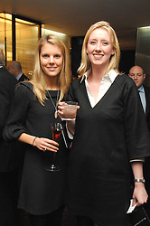 Left to right, The HON.VIRGINIA FRASER and KATHERINE BARTON at a Valentine's Party in aid of Chickenshed held at De Beers, 50 Old Bond Street, London W1 on 6th Fbruary 2008.<br />