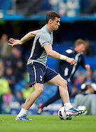 Picture by Alan Stanford/Focus Images Ltd +44 7915 056117.08/05/2013.Gareth Bale of Tottenham Hotspur warming up before the Barclays Premier League match at Stamford Bridge, London..