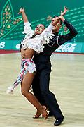 Ashgabat, Turkmenistan - 2017 September 26:<br /> DanceSport competition during 2017 Ashgabat 5th Asian Indoor &amp; Martial Arts Games at Taekwondo DanceSport Arena (TD4) at Ashgabat Olympic Complex on September 26, 2017 in Ashgabat, Turkmenistan.<br /> <br /> Photo by &copy; Adam Nurkiewicz / Laurel Photo Services