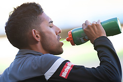January 19, 2019 - Melbourne, VIC, U.S. - MELBOURNE, VIC - JANUARY 19: Perth Glory midfielder Juande (27) takes a drink of water during warm up at the Hyundai A-League Round 14 soccer match between Melbourne City FC and Perth Glory on January 19, 2019, at AAMI Park in VIC, Australia. (Photo by Speed Media/Icon Sportswire) (Credit Image: © Speed Media/Icon SMI via ZUMA Press)