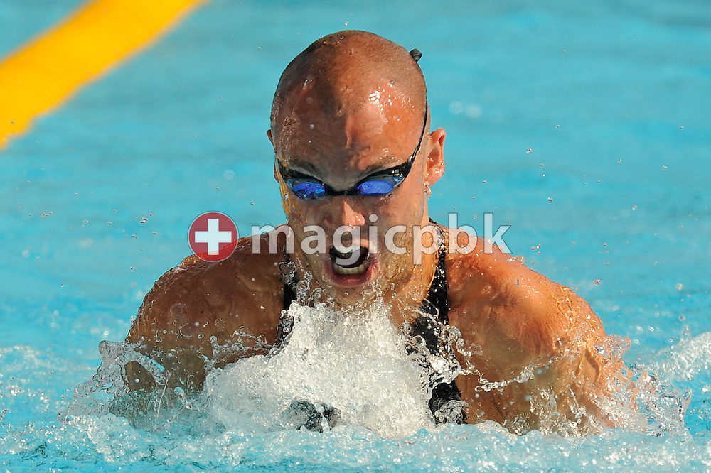 Benjamin Le Maguet of Switzerland competes in the men's 50m breaststroke heats at the 13th FINA World Championships at the Foro Italico complex in Rome, Italy, Tuesday, July 28, 2009. (Photo by Patrick B. Kraemer / MAGICPBK)