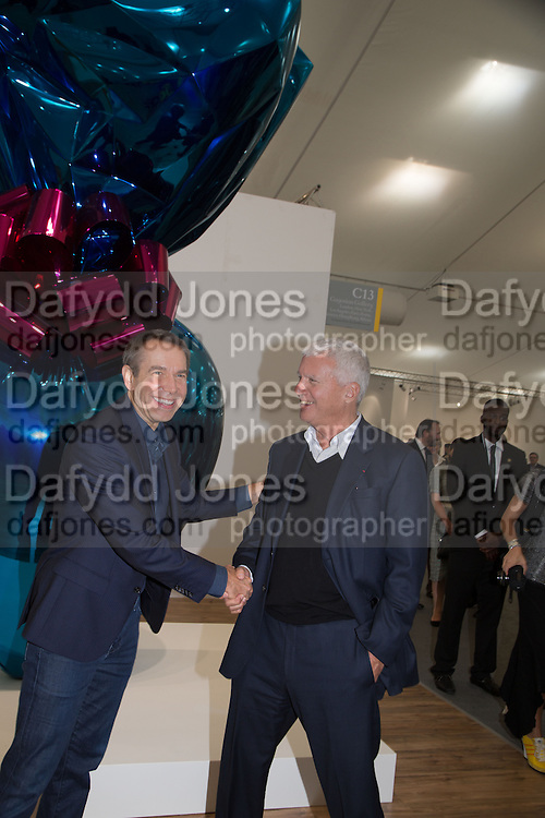 JEFF KOONS; LARRY GAGOSIAN, Frieze. Regent's Park. London. 17 October 2013