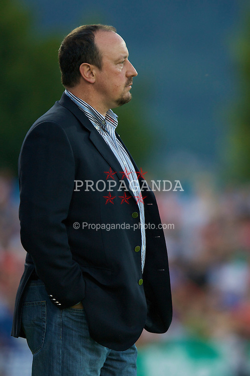 GRENCHEN, SWITZERLAND - Wednesday, July 16, 2008: Liverpool's manager Rafael Benitez during during a pre-season friendly at Stadion Bruhl. (Photo by David Rawcliffe/Propaganda)