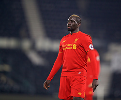 DERBY, ENGLAND - Monday, November 28, 2016: Liverpool's Mamadou Sakho in action against Derby County during the FA Premier League 2 Under-23 match at Pride Park. (Pic by David Rawcliffe/Propaganda)